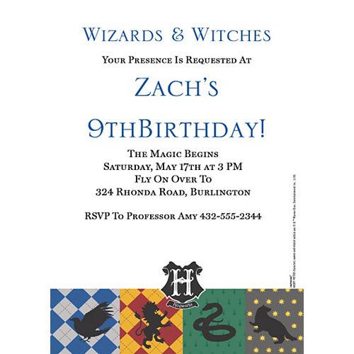 Custom Harry Potter Invitations Image #1