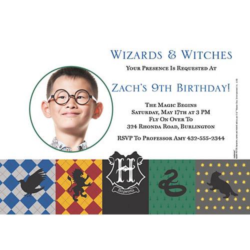Custom Harry Potter Photo Invitations Image #1