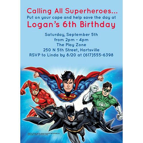 Custom Justice League Invitations Image #1