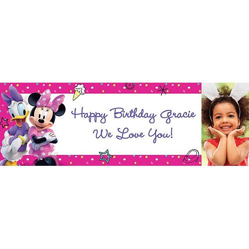 Custom Minnie Mouse's Helpers Photo Horizontal Banner Image #1
