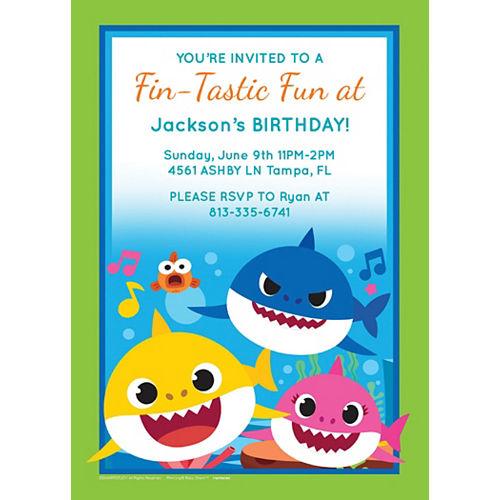 Custom Baby Shark Invitations Image #1