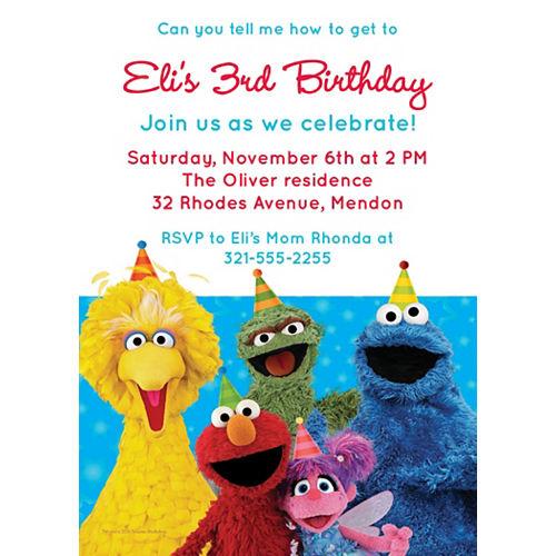 Custom Sesame Street Invitations Image #1
