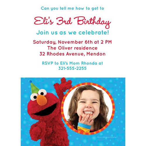Custom Sesame Street Photo Invitations Image #1
