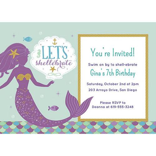 Custom Mermaid Wishes Invitations Image #1