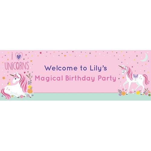 Custom Magical Unicorn Horizontal Banner Image #1