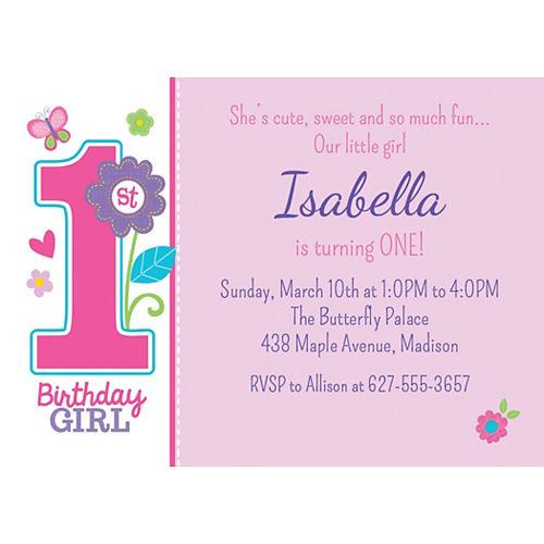 Custom Sweet Birthday Girl Invitations Image #1