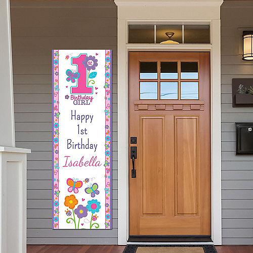 Custom Sweet Birthday Girl Vertical Banner Image #1