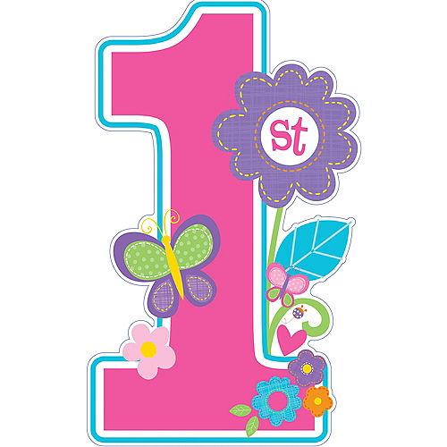 Sweet Birthday Girl Centerpiece Cardboard Cutout, 18in Image #1