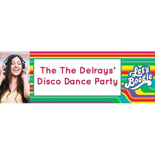 Custom Disco Fever Photo Horizontal Banner Image #1