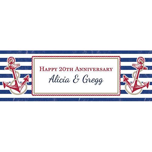 Custom Striped Nautical Horizontal Banner Image #1