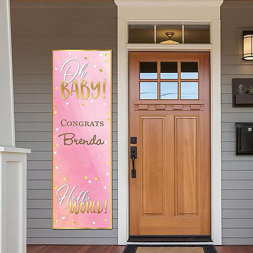 Custom Oh Baby Girl Vertical Banner Image #1