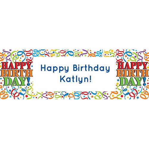 Custom Colorful Birthday Horizontal Banner Image #1