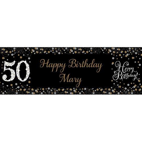 Custom Sparkling Celebration 50 Horizontal Banner Image #1
