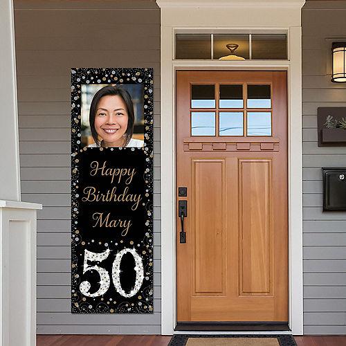Custom Sparkling Celebration 50 Photo Vertical Banner Image #1