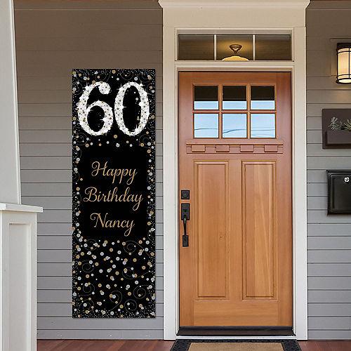 Custom Sparkling Celebration 60 Vertical Banner Image #1