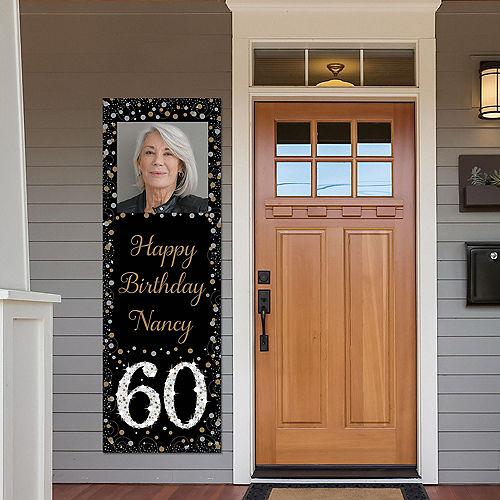Custom Sparkling Celebration 60 Photo Vertical Banner Image #1