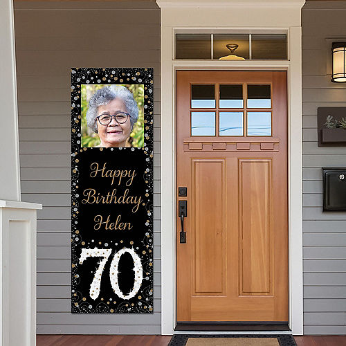 Custom Sparkling Celebration 70 Photo Vertical Banner Image #1