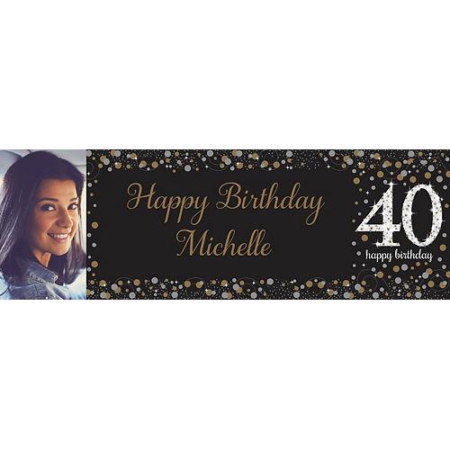 Custom Sparkling Celebration 40 Photo Horizontal Banner Image #1
