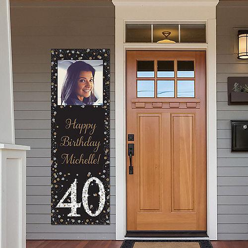 Custom Sparkling Celebration 40 Photo Vertical Banner Image #1