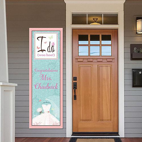 Custom Something Blue Bridal Shower Vertical Banner Image #1