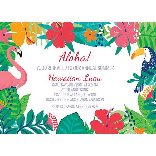 Custom Tropical Jungle Invitations Image #1