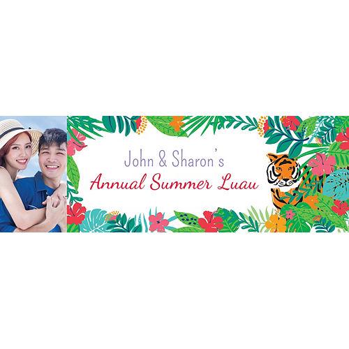 Custom Tropical Jungle Photo Horizontal Banner Image #1