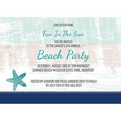 Custom Sea, Sand & Sun Invitations Image #1
