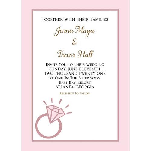 Custom Blush Wedding Invitations Image #1