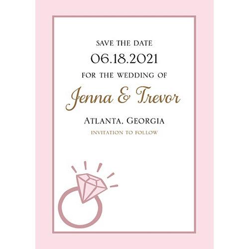 Custom Blush Wedding Announcements Image #1