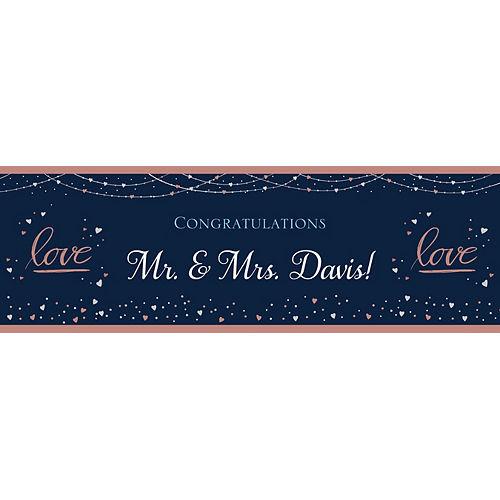 Custom Navy Love Bridal Horizontal Banner Image #1