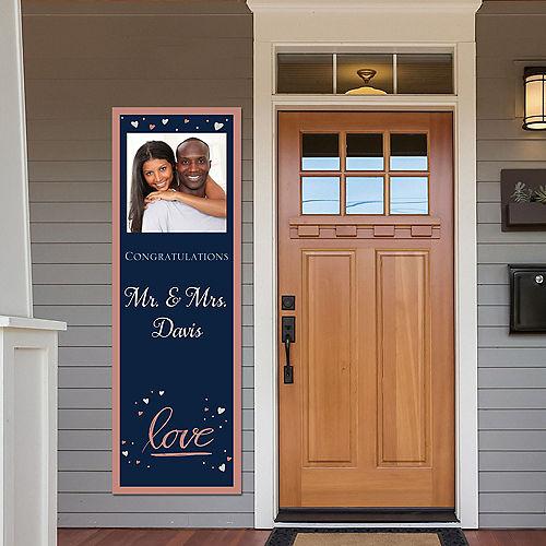 Custom Navy Love Bridal Photo Vertical Banner Image #1
