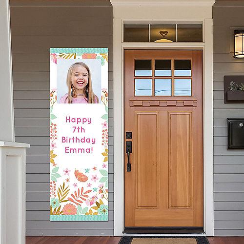 Custom Boho Floral Photo Vertical Banner Image #1