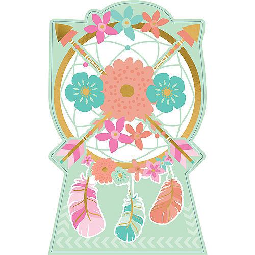 Boho Floral Centerpiece Cardboard Cutout, 18 Image #1