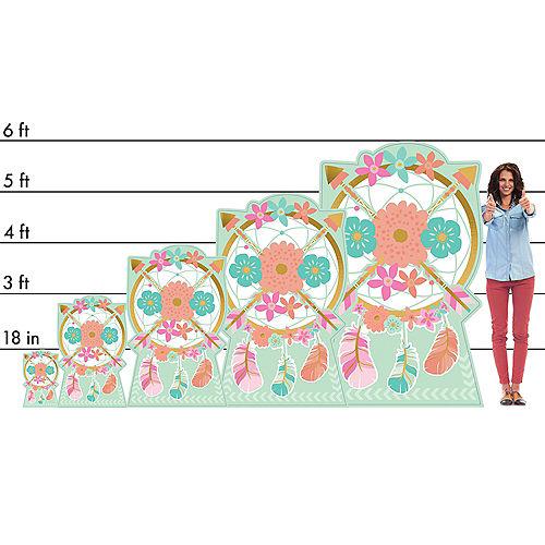 Boho Floral Centerpiece Cardboard Cutout, 18 Image #2