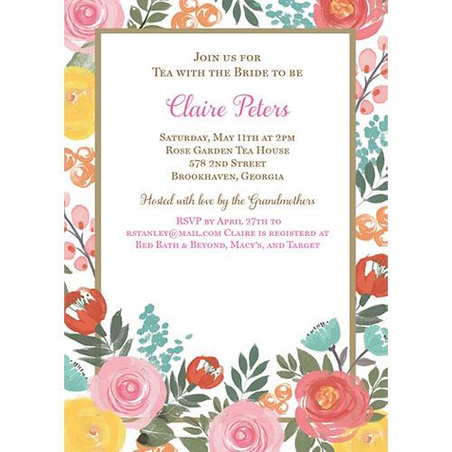 Custom Bright Floral Invitations Image #1