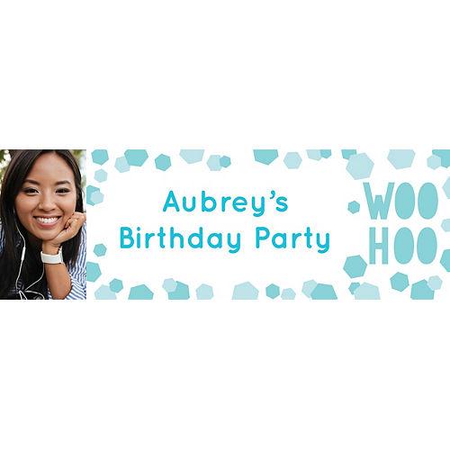 Custom Shimmering Party Photo Horizontal Banner Image #1