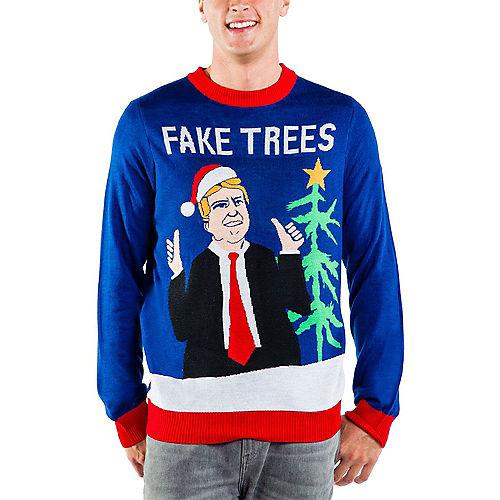 Adult Fake Trees Ugly Christmas Sweater Image #1