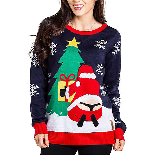 Adult Santa's Whale Tail Ugly Christmas Sweater Image #1