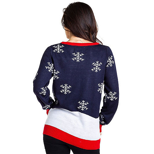 Adult Santa's Whale Tail Ugly Christmas Sweater Image #2