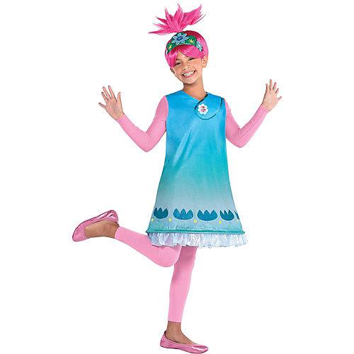 Child Queen Poppy Costume - Trolls World Tour Image #1