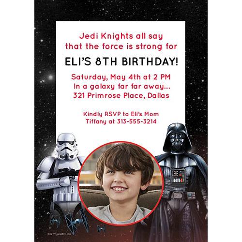 Custom Star Wars Photo Invitations Image #1