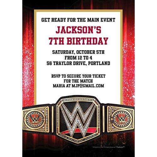 Custom WWE Invitations Image #1