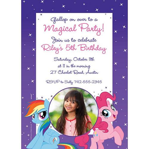 Custom My Little Pony Photo Invitations Image #1