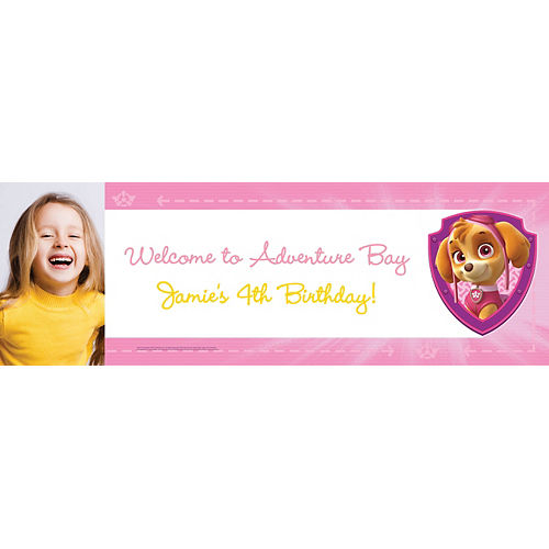 Custom Pink PAW Patrol Photo Banner Image #1