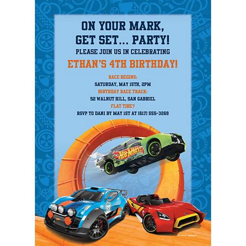 Custom Hot Wheels Wild Racer Invitations Image #1