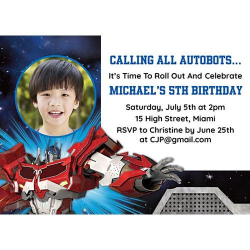 Custom Transformers Photo Invitations Image #1