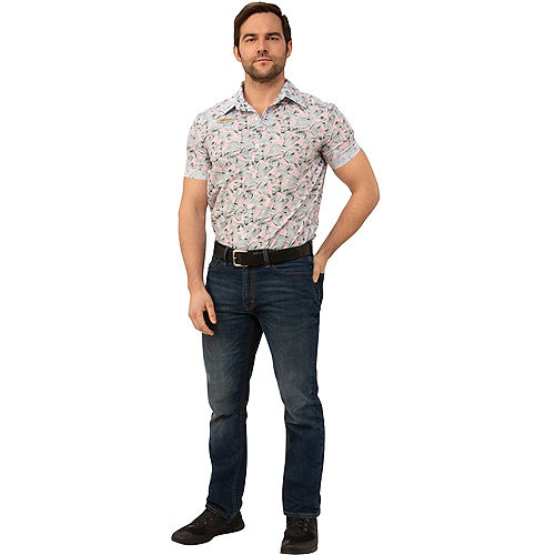 Adult Hopper Hawaiian Shirt - Stranger Things Image #1