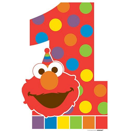 Elmo 1st Birthday Life-Size Cardboard Cutout, 6ft Image #1
