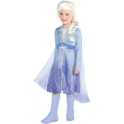 Child Act 2 Elsa Costume with Wig - Frozen 2 Image #1