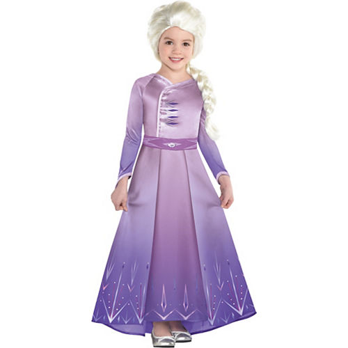Child Act 1 Elsa Costume with Wig - Frozen 2 Image #1